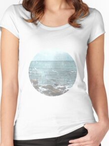 Rocky Beach Travel Photography Women's Fitted Scoop T-Shirt