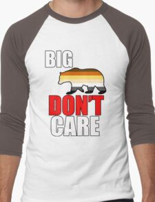 big bear don't care Men's Baseball ¾ T-Shirt