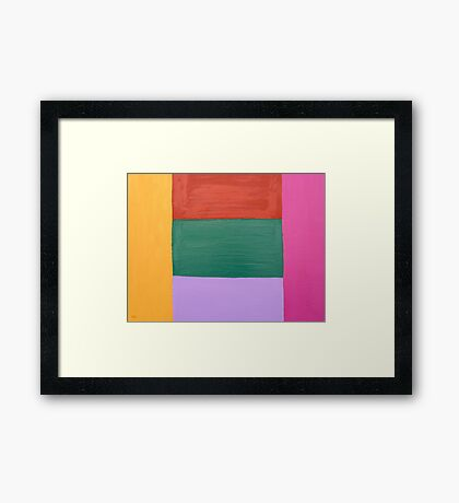 ABSTRACT 307 Framed Print
