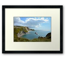 Man Of War Bay, Dorset Framed Print