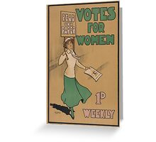 Votes for Women Greeting Card