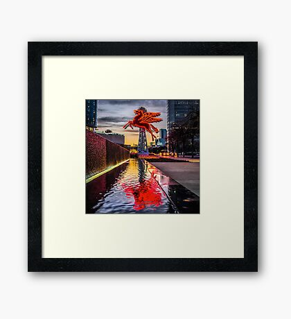 Pegasus Relection Framed Print
