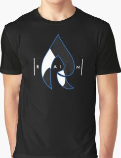 Faze Rain | Raindrop Blue, White and Black | Logo | Black Background |  Graphic T-Shirt