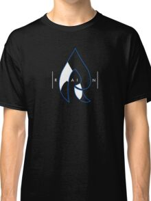 Faze Rain | Raindrop Blue, White and Black | Logo | Black Background |  Classic T-Shirt