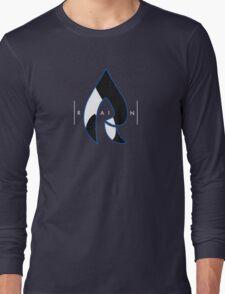 Faze Rain | Raindrop Blue, White and Black | Logo | Black Background |  Long Sleeve T-Shirt