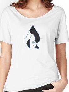 Faze Rain   Raindrop Blue, White and Black   Logo   Black Background    Women's Relaxed Fit T-Shirt