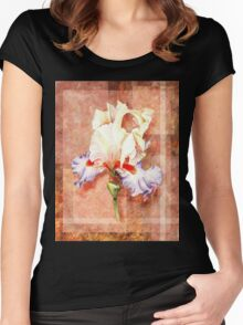 Gorgeous Iris Decorative Painting Women's Fitted Scoop T-Shirt
