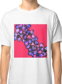 Pretty Pink and Purple Painted Flowers Classic T-Shirt