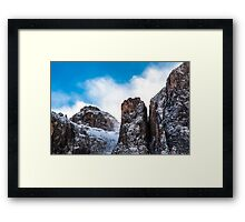 wind on the summit of the mountain Framed Print