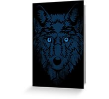 Wolf Blues. Greeting Card