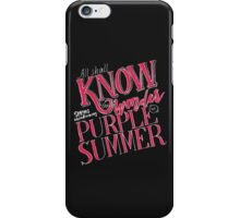 Song of Purple Summer iPhone Case/Skin