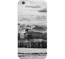 snow on an ancient church of italy iPhone Case/Skin