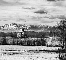 snow on an ancient church of italy by zakaz86