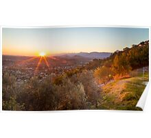 autumn sunset in the italian countryside Poster