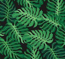 Tropical foliage pattern by snja