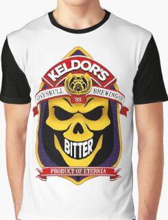 Keldor's Bitter - Grayskull Brewing Company - Skeletor Graphic T-Shirt
