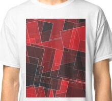 Abstract Red and Black Squares Classic T-Shirt