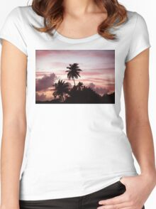 Key West Sunset Women's Fitted Scoop T-Shirt
