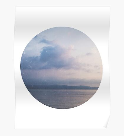 Blue Ocean Sunset Photography Poster
