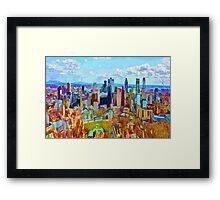 Montreal Skyline from Mount Royal Framed Print