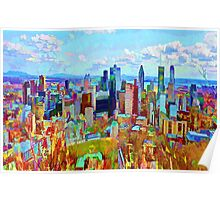 Montreal Skyline from Mount Royal Poster