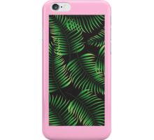 Tropical foliage pattern with pink frame iPhone Case/Skin