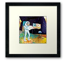 Walk on the Moon Framed Print
