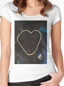 Heart Valentine. Be Mine. Literally. Women's Fitted Scoop T-Shirt