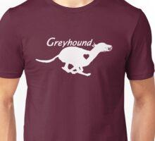 Greyhound <3 (in white) Unisex T-Shirt