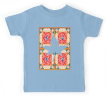 Patchwork beautiful style contry orange  Kids Tee