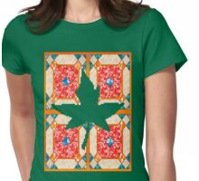 Patchwork beautiful style contry orange  Womens Fitted T-Shirt