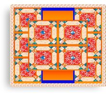 Patchwork beautiful style contry orange  Canvas Print