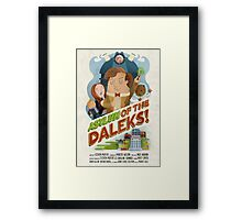 Doctor Who - Asylum of The Daleks! Framed Print
