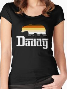 white daddy bear Women's Fitted Scoop T-Shirt