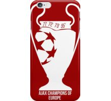 Ajax Champions of Europe iPhone Case/Skin