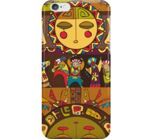 Ethnic People Sun Background iPhone Case/Skin