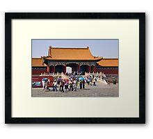 Beijing: Touring the Forbidden City Framed Print