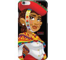 Peruana - Black iPhone Case/Skin