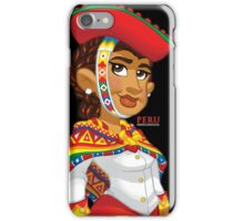 Peruana - Black iPhone Case/Skin
