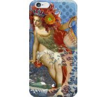 Vintage Mermaid Aquarius Gothic Whimsical Collage iPhone Case/Skin