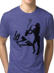 saxophone, jazz girl Tri-blend T-Shirt