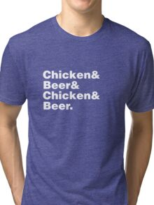 Chicken and Beer Tri-blend T-Shirt