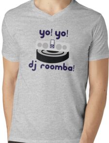 YO! YO! DJ ROOMBA Mens V-Neck T-Shirt