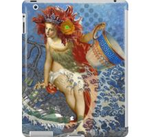 Vintage Mermaid Aquarius Gothic Whimsical Collage iPad Case/Skin