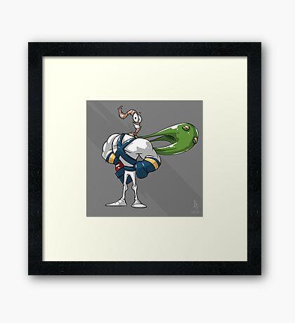 0002 - Earthworm Jim Framed Print