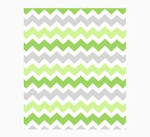 Lime Green Grey Chevron Pattern Classic T-Shirt