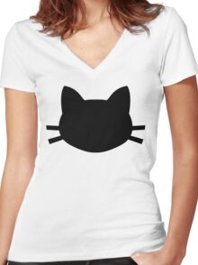 Black Cat Crosses Your Path Women's Fitted V-Neck T-Shirt