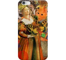 Vintage Aries Gothic Whimsical Collage Woman Fantasy iPhone Case/Skin
