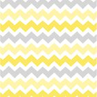 Yellow Grey Chevron Pattern by dreamingmind