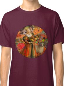 Vintage Aries Gothic Whimsical Collage Woman Fantasy Classic T-Shirt